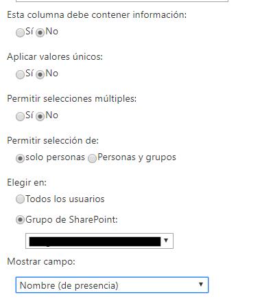 Sharepoint column